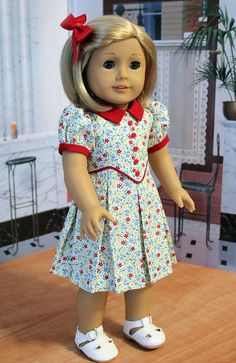 1930s  Dress for 18 Inch Dolls like Kit or Ruthie by BabiesArtUs, $45.00 Love how cute this is!!!
