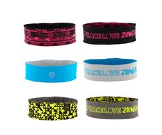 Peace Two Way Headbands 3pk | Zumba Fitness Shop