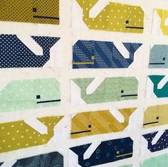 Preppy the Whale Baby Quilt | Freshly Pieced | Bloglovin'