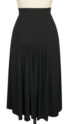 Trashy Diva Gathered Back Skirt Black Rayon Crepe de Chine (back)