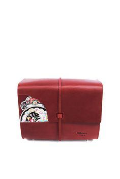 Oxblood satchel bag with handcrafted embroidery from Dali region. Shop it now on: Dreamscode.co.uk