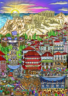 "Olympic Games, 2004 - Athens, Greece12"" x 17"""