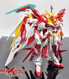 GUNDAM GUY: MG 1/100 XXXG-01W Wing Gundam 'RED WINGS' - Customized Build