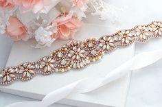 ROSE GOLD SALE Wedding Belt Bridal Belt Sash Belt Crystal