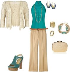 """Teal work outfit"" by katie-au-foote on Polyvore"