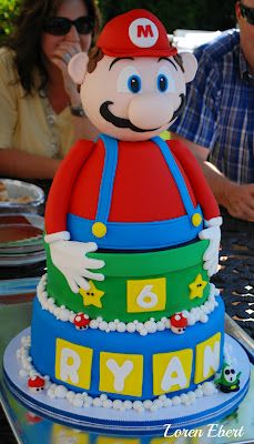 3-D Mario Bros. Cake
