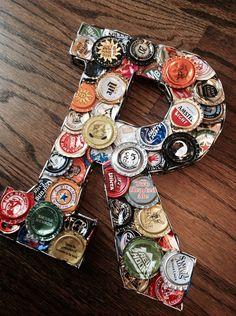 Unique Craft Beer Bottle Cap Letters Sign BEER or BAR