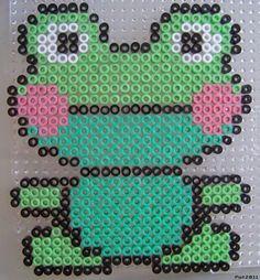 Frog hama perler beads
