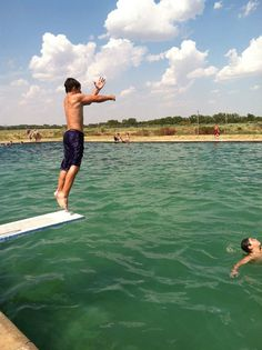 The Gage Artesian #Beach in western #Oklahoma is a very unique #swimming hole. The mineral-laden water created this natural spot with cement sides like a pool and a sandy bottom like a #lake.