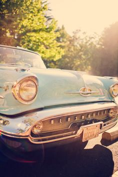 vintage cars--especially this one. in fact, this IS my dream car in this color!!