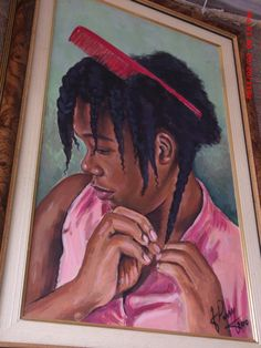 """Painting from Jamaica. I would like to rename this """"Beauty within the struggle""""."""