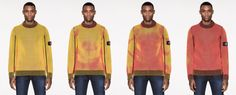 Stone Island created a knitwear collection called Ice, made from thermo-sensitive yarn that drastically changes colour when exposed to cold. Stone Island Store, Stone Island Jumper, Smart Textiles, Wearable Technology, Sweater Making, Future Fashion, American Apparel, Color Change, Knitwear