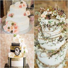 Elegantly Colored Wedding Cakes - MODwedding