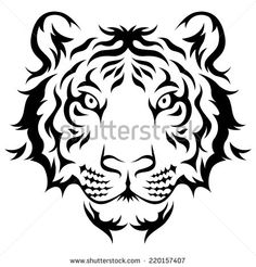 Stock Images similar to ID 158861822 - tiger black and white vector...