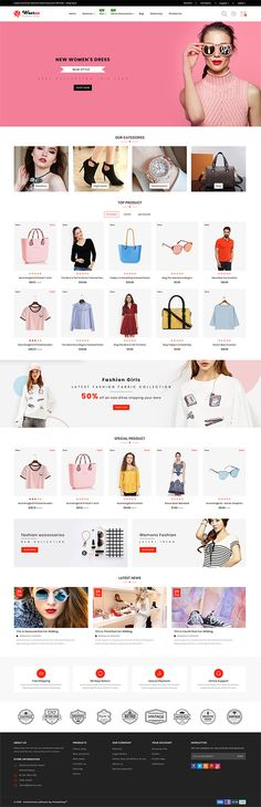 Wearza - The Fashion Store Template Wearza - The Fashion Store Template is a good choice for selling Website Layout, Website Themes, Web Design, Custom Woodworking, Teds Woodworking, Shoe Template, Store Layout, Ecommerce Website Design, Photoshop