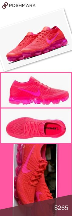 Nike Women Vapormax Size 9 Women Hyper Punch Pink New In Box  Flyknit Price is Firm nike Shoes Sneakers
