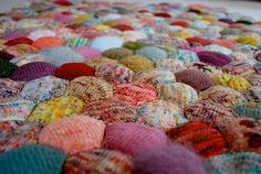 hexagonal stuffed knitting