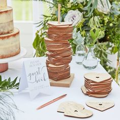 Wooden Stacking Heart Wedding Guest Book Alternative by Ginger Ray, the perfect gift for Explore more unique gifts in our curated marketplace. On Your Wedding Day, Fall Wedding, Rustic Wedding, Dream Wedding, Diy Wedding Signs, Farm Table Wedding, Wedding Table Themes, White Wedding Decorations, Centerpiece Wedding