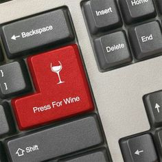 """This """"press for wine"""" button. Think we all need new keyboards?"""
