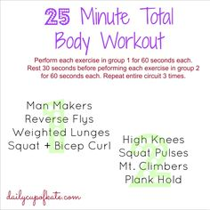 Fitness Friday: 25 Minute Total Body Workout