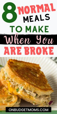8 Cheap Meals When You Are Broke Check out these frugal meals to make when you are broke! We all run into hard times and sometimes need help finding cheap meals to make for dinner. These are some of my go to meals to make when I am flat broke. Cheap Meals To Make, Inexpensive Meals, Food To Make, Super Cheap Meals, Quick Cheap Dinners, Cheap Simple Meals, Cheap Dinner Ideas, Dirt Cheap Meals, Easy Weeknight Dinners