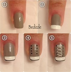 Picture Tutorial for Painting Converse Shoe Nails. You've seen them, here's how to paint them! (bedizzle)