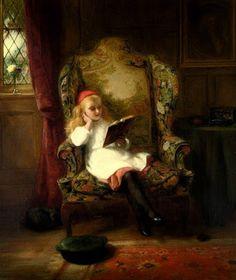 A good read - George Bernard O'Neill (Irish, 1828 – 1917)