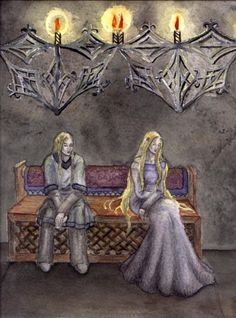 But Gwindor sat in dark thought; and on a time he spoke to Finduilas, saying: Daughter of the house of Finarfin, let no grief lie between us; for though Morgoth has laid my life in ruin, you still I love. Go whither love leads you; yet beware! It is not fitting that the Elder Children of Ilúvatar should wed with the Younger; nor is it wise, for they are brief, and soon pass... Neither will fate suffer it, unless it be once or twice only, for some high cause of doom that we do not perceive.