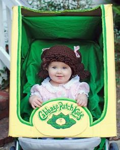 Baby Cabbage Patch Costume Halloween Costumes To Make, First Halloween, Halloween Diy, Halloween Stuff, Halloween Makeup, Infant Halloween, Homemade Costumes, Vintage Halloween, Cabbage Patch Kids Costume