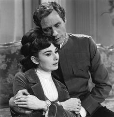 Audrey Hepburn and Mel Ferrer in Mayerling, 1957.
