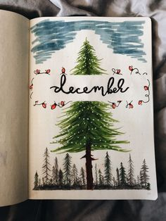 December #winter #bujo #bulletjournal #christmas #art #doodle #draw #markers