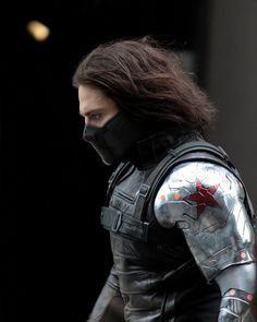 Right up in the Winter Soldier's business -- from the set of Captain America 2! Click the image to see more pics