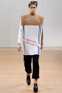 J.W. Anderson | Fall 2014 Menswear Collection | Style.com ^~^ bold corduroys effects!