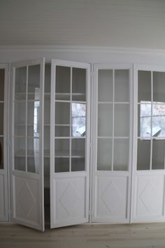Glass Doors on Built-In Shelves, Closet, Bookcases, Storage