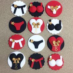 Bachelorette fondant cupcake toppers