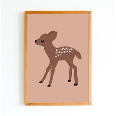 This enchanting little deer would look perfect when framed and hung up in a nursery or a kids room. You could even use it on a last-minute gift card Christmas card. When purchased you will receive a square and an sized jpeg file as well as a png file. Deer Decor, Last Minute Gifts, A4, Kids Room, Moose Art, Christmas Cards, Cute Animals, Nursery, Bullet Journal