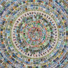 Jellyfish, mixed media on canvas,