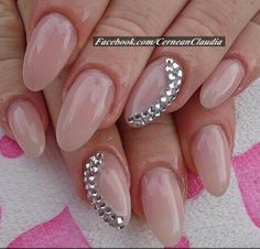 Nude oval with a touch of edginess.