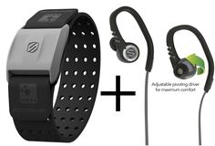 Scosche Rhythm  and SportCLIP 3 Bundle - Black Heart Rate Monitor Armband and Adjustable Sport Earbuds Audio Bundle - Black >>> Continue to the product at the image link.