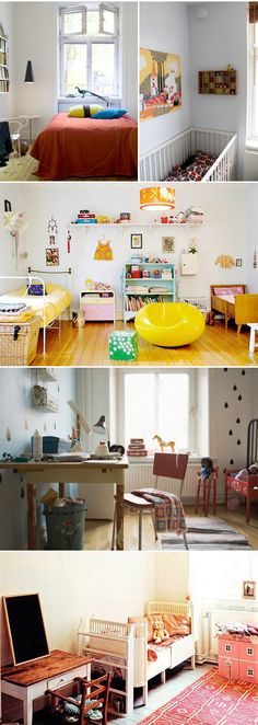 All kinds of good ideas for Children's rooms.