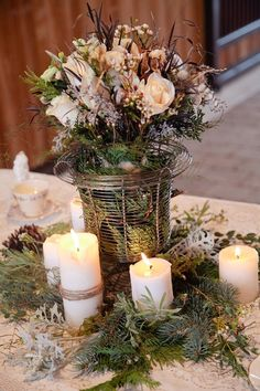 winter table centerpiece ideas