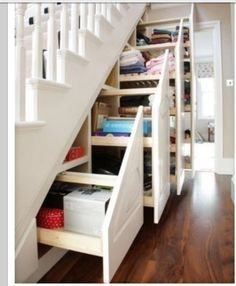 Great idea for space under the stairs