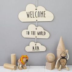 Welcome To The World Personalised Cloud Mobile - Give a Christening gift that shows they are truly cherished. Thoughtful and original, lots of the products can be personalised as they are created by talented independent designers or small creative businesses.