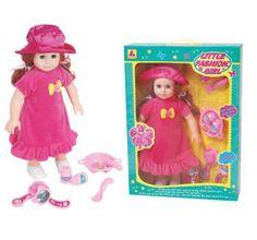 18 inch Amerikaanse Jurk Meisje Speelgoed Mooi Meisje Poppen met Accessoires 2 kleuren(China (Mainland))