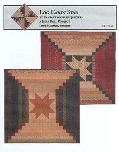 Log Cabin Star (Jelly Roll Pattern)