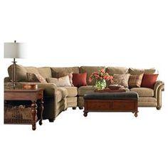 Nebraska Furniture Mart – Bassett Traditional 3-Piece Sectional
