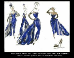 william ivey long Guys and Dolls Guys And Dolls, Movie Costumes, Visual Communication, Figure Drawing, Costume Design, Textile Design, The Incredibles, Fashion Illustrations, Disney Princess
