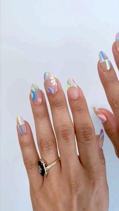 Cute Acrylic Nail Designs, Simple Acrylic Nails, Pink Acrylic Nails, Simple Nails, Perfect Nails, Gorgeous Nails, Stylish Nails, Trendy Nails, Funky Nails