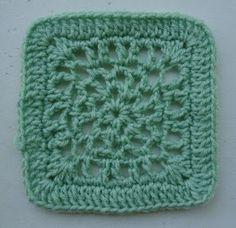 Free Crochet Pattern - Fresh Air 6 inch Square