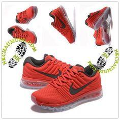 promo code 285e5 dc8f4 Chaussur Homme Nike Pas Cher Air Max 2017 Cushion Fly Line Rouge Noir Pistes